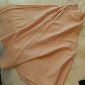 Pink sheer high waist skirt